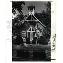 1989 Press Photo Leon Younger Director Of Lake County Metro Park,Anthony Ocepek