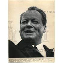1971 Press Photo Willy Brandt, 57 year old West German chancellor won the 1971