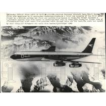 1969 Press Photo The First Polar route by British Airline