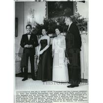 1965 Press Photo President and Mrs. Johnson with Princess Margaret and husband