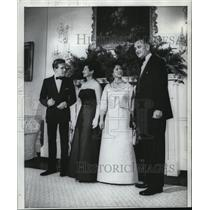 1965 Press Photo President and Mrs. Johnson pose tonight with their royal guests