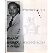 1963 Press Photo Rev. Martin Luther Kings leader of Montgomery bus boycott.