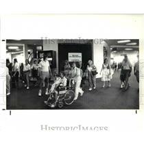 1988 Press Photo scene from Cleveland Hopkins International Airport