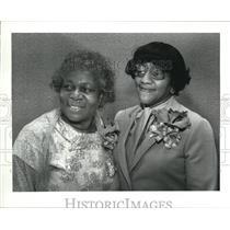 1982 Press Photo Geraldine Roberts with Jacqueline M Balthrope