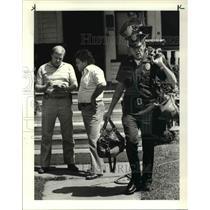1984 Press Photo Lakewood Police Det David Erhardt and Patrolman Charles Theis