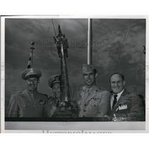 1947 Press Photo Col Boyd, Comander Caldwell, Maj Carl & Mr Weatherhead