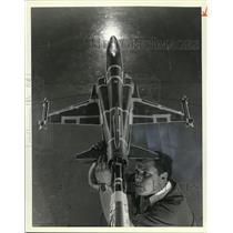1980 Press Photo Airplane Models