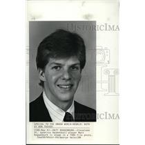 1986 Press Photo Matt Roggenburk, Cleveland St Ignatius basketball player