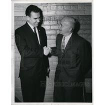 1964 Press Photo Cleve Typographical Union Newell Frizzell & Louis Schwimmer