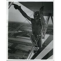 1984 Press Photo Cleveland National Air Show-Jimmy Dorsey Wing Walker