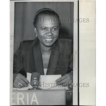 1969 Press Photo Angie Brooks of Liberia to be Pres of the United Nations GA