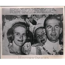 1964 Press Photo King Constantine and Princess Anne Marie after their wedding