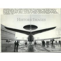 1972 Press Photo Modified Boeing 707-320 topped by 30-foot rotodome rolled out