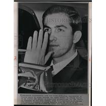 1964 Press Photo King Constantine of Greece Waves the Crowd in Athens