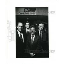 1989 Press Photo Central States Airlines founders T. Small, J. Boldt, Tom Tuel