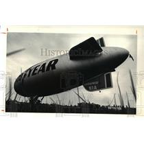 1981 Press Photo Goodyear Blimp Enterprise