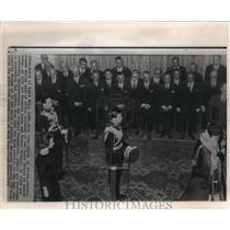 1964 Press Photo King Constantine of Greece at the Royal Palace in Athens