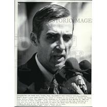 1973 Press Photo Atlanta Pilot Ernest Brace at Travis Air Force Base