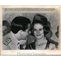 1964 Press Photo King Constantine and fiancee Princess Anne Marie