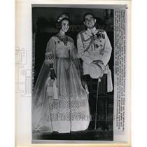 1964 Press Photo King Constantine of Greece & bride Danish Princess Anne Marie