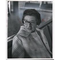 1970 Press Photo Mrs. Elmer E. Smith at the Hopkin's Airport