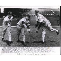 1941 Press Photo White Sox Pitchers Johnny Rigney Ted Lyons Thornton Lee