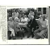 1973 Press Photo Chief Justice Warren Burger Attended Family Reunion at Minn.