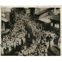 1930 Press Photo Bombay Indian Residents Participating in Parade