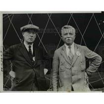 1933 Press Photo Georges Blanchet & George Ravaine, French Balloonists