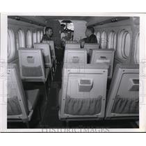 1968 Press Photo Passenger Seats in Interior of De Havilland Plane - nee68379