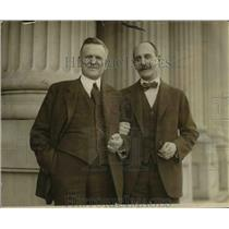 1923 Press Photo Wis Senator Lenroot & Sen Charles Beaubain of Canada