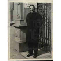 1923 Press Photo Berlin Germany Monsignor Testa Papal Nunzio