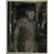 1924 Press Photo Richard Trezise RR engineer in NY