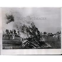 1935 Press Photo Italians Celebrate Victory at Aduwa  - nee62010