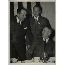 1938 Press Photo Col. J. Carroll Cone, Richard DuPont, Glenn Martin in Cleveland