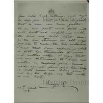1918 Press Photo Handwritten Letter by Queen Mary of England