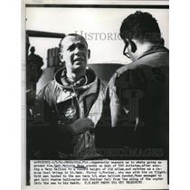 1961 Press Photo Navy Research Balloon Pilot Malcolm Ross After Flight