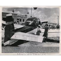 1951 Press Photo Light Airplane Carrying 2 Dayton, Ohio Men And Their Wives