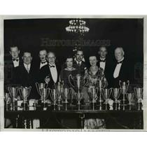 1933 Press Photo Bridge Experts Drummond Jones, Landahl, Lawrence Pittman, Mrs.