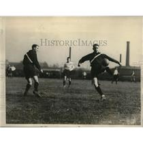 1924 Press Photo soccer game between Yale and University of Pennsylvania