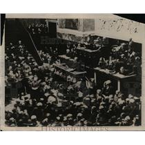 1923 Press Photo Premier Raymond Poincare of France making address  - nee71478