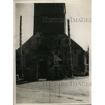 1927 Press Photo Damvillers France a church building