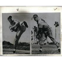 1942 Press Photo St Louis Cardinal pitcher Morton Cooper & Ernie White