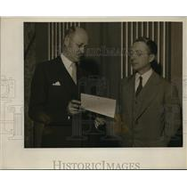 1922 Press Photo CF Lewis and Charles Ingham in Pittsburg  - nee62120