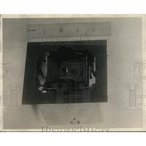 1928 Press Photo Reed Indicator, Radio Aircraft Beacon Placed In Airplane Panel.