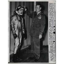 1959 Press Photo Chief of Staff General Thomas D White Showing Suit for X-15