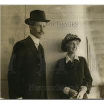 1918 Press Photo Kermit Roosevelt & his wife