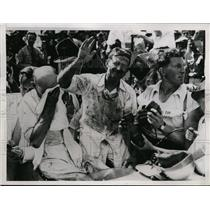 1937 Press Photo Wilbur Shaw won Indianapolis 500 at averge 113.58 MPH