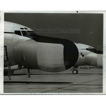 1968 Press Photo KC-135 4 Engine Jet Aircraft Military Fuel Tanker.