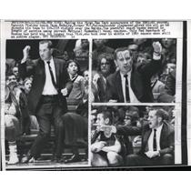 1961 Press Photo NYC Pistons coach Dick McGuire at game vs Knicks - nes33455